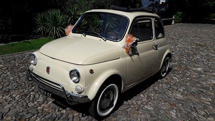 Fiat 500 vecchio modello per matrimonio Milano